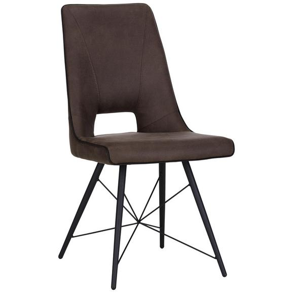 Stuhl in Braun - Schwarz/Braun, MODERN, Holz/Textil (47/91.5cm) - Mömax modern living