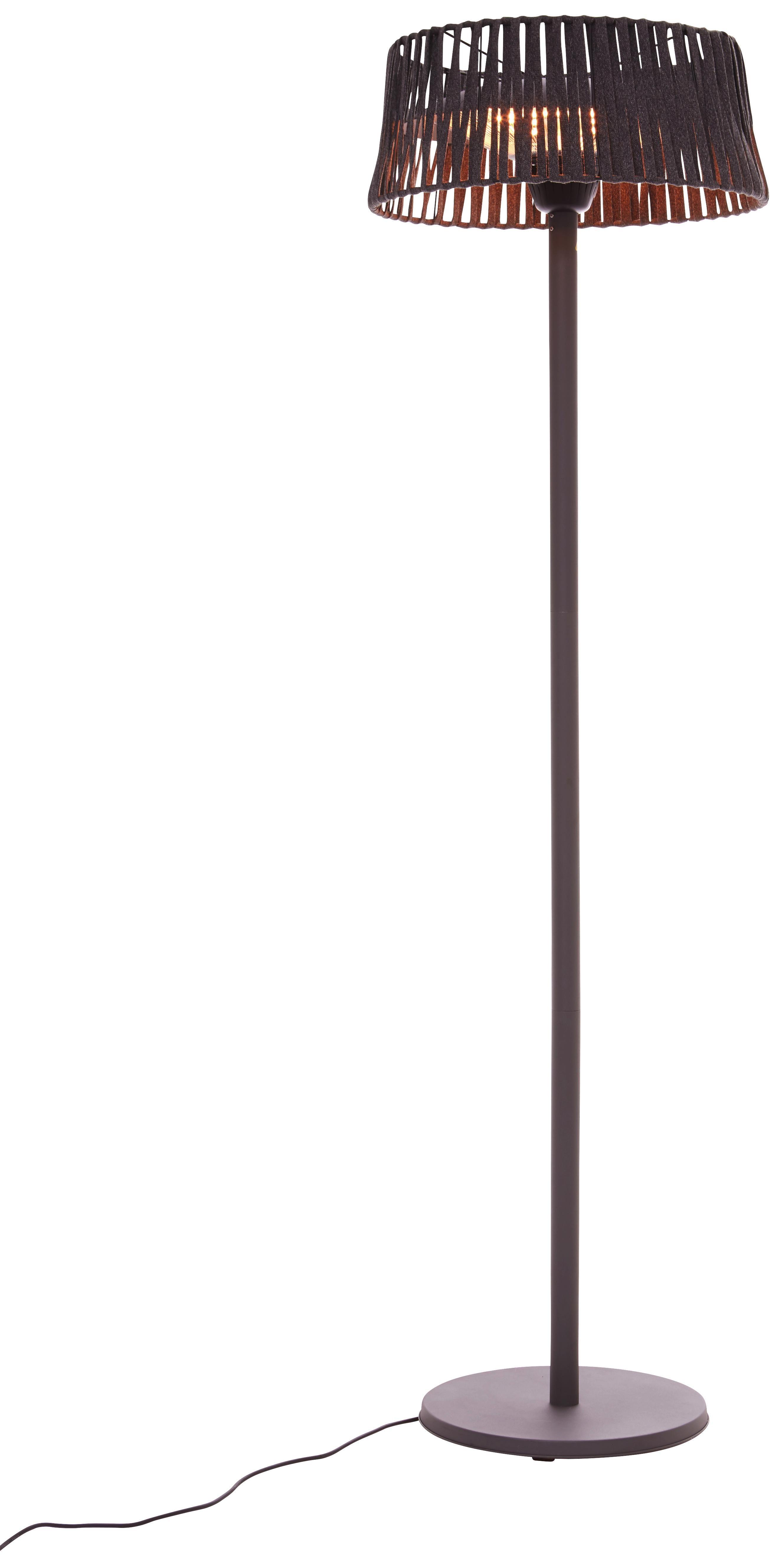 Terrassenstrahler Marlon 900/1200/2100w - Grau, MODERN, Metall (210cm) - Modern Living