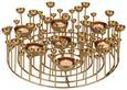 Kerzenhalter Sam Goldfarben - Goldfarben, Metall (38/11,5cm) - Mömax modern living