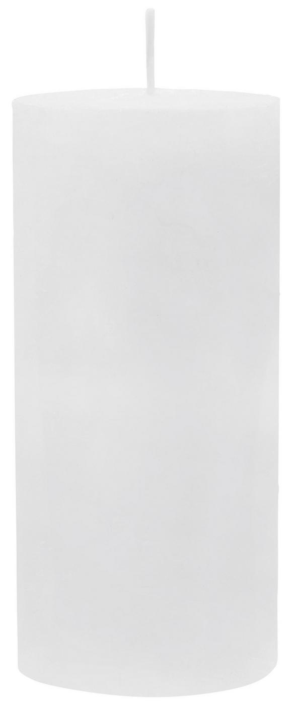 Stumpenkerze Lia Weiß - Weiß, MODERN (6,8/15cm) - Mömax modern living