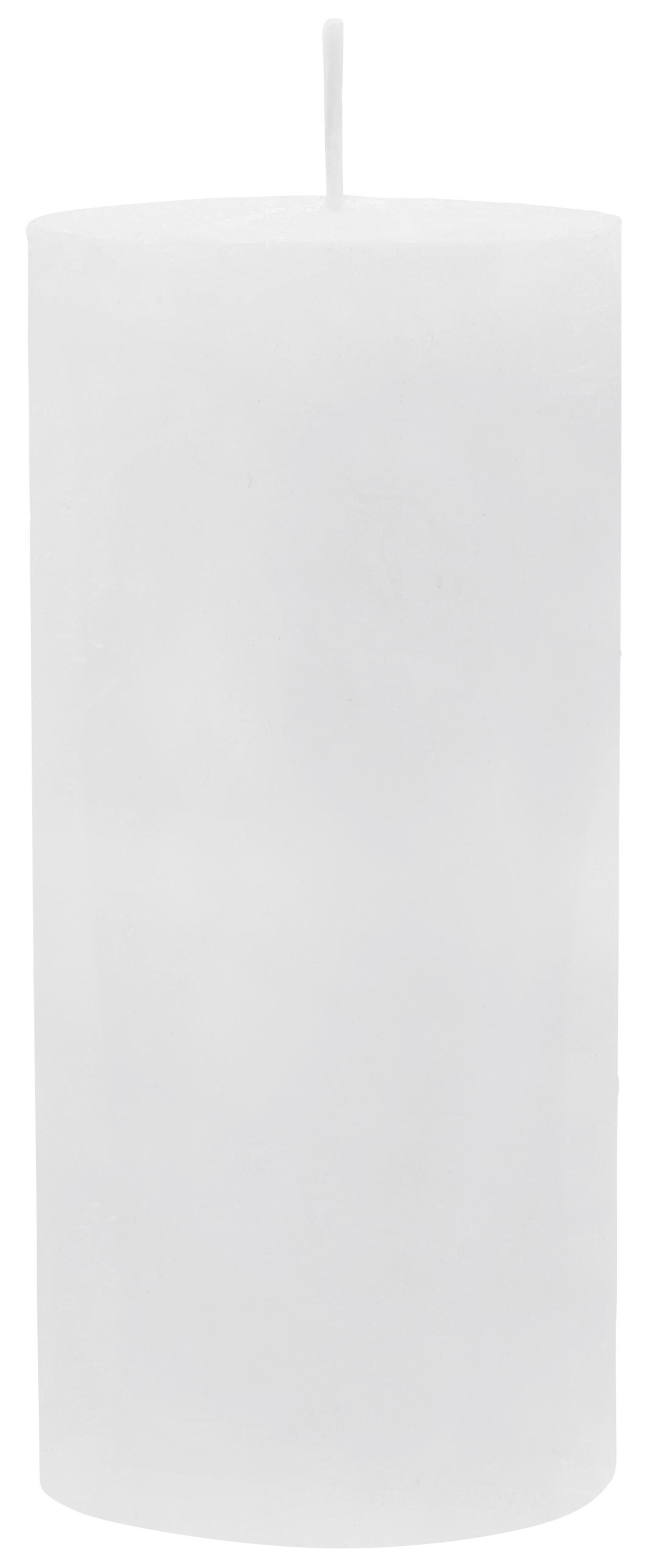 Tömbgyertya Lia - fehér, modern (7/15cm) - MÖMAX modern living