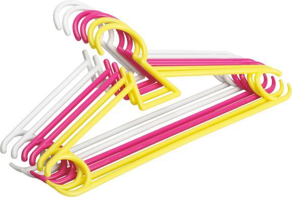Kinderkleiderbügel 6er-pack Mimi Multicolor - Multicolor, Kunststoff (30/14,5/0,56cm) - Mömax modern living