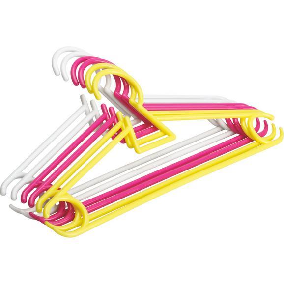 Kinderkleiderbügel Mimi in Multicolor 6er Set - Multicolor, Kunststoff (30/14,5/0,56cm) - Mömax modern living
