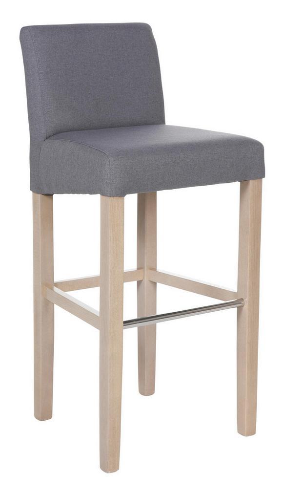 Barhocker in Grau - Eichefarben/Grau, KONVENTIONELL, Holz/Textil (47/101/44cm) - Mömax modern living