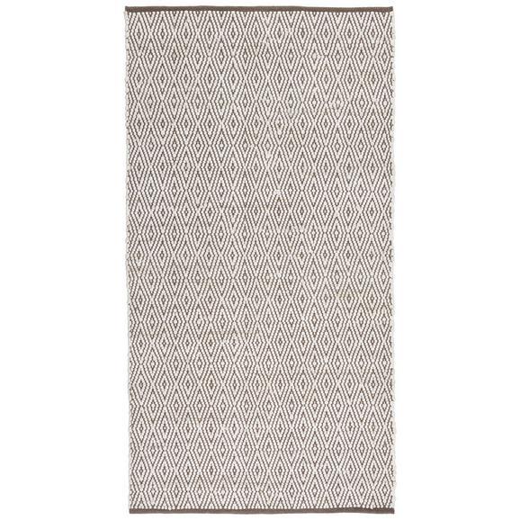Handwebeteppich Carmen in Grau ca. 60x120cm - Grau, Textil (60/120cm) - Mömax modern living