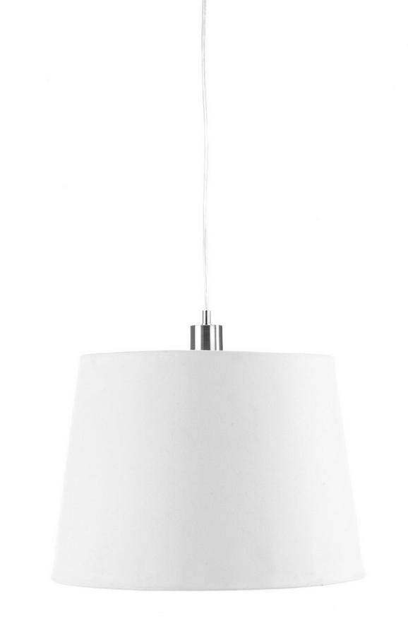 Leuchtenschirm Selina Weiß - Weiß, Textil/Metall (34-42/29cm) - Mömax modern living