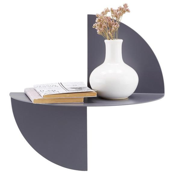 Wandregal Grau - Grau, MODERN, Metall (33/33/16,5cm) - Modern Living