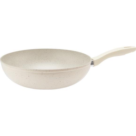 Vok Marmor - krem, kovina/umetna masa (28/8cm) - Premium Living