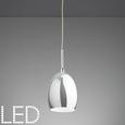 LED-Hängeleuchte max. 3 Watt 'Leonita' - Chromfarben, MODERN, Metall (7,5/7,5/120cm) - Bessagi Home