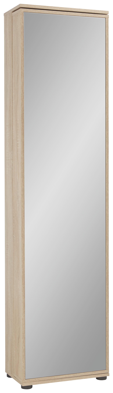 Cipősszekrény Penny - tölgy színű/bükk színű, faanyagok (47/190/29cm)