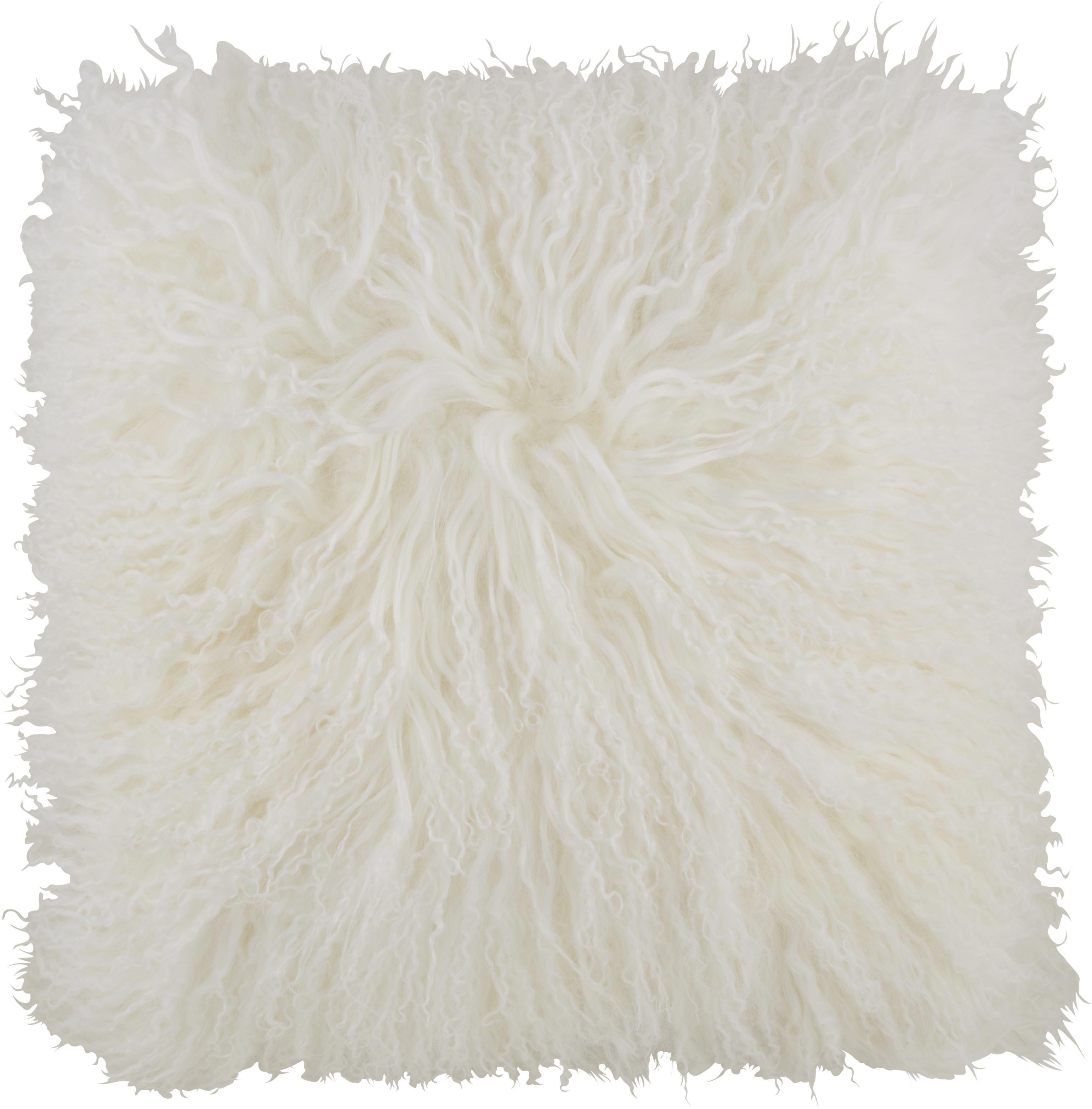 Zierkissen Shaun in Weiß, ca. 40x40cm - Weiß, Textil (40/40cm) - PREMIUM LIVING