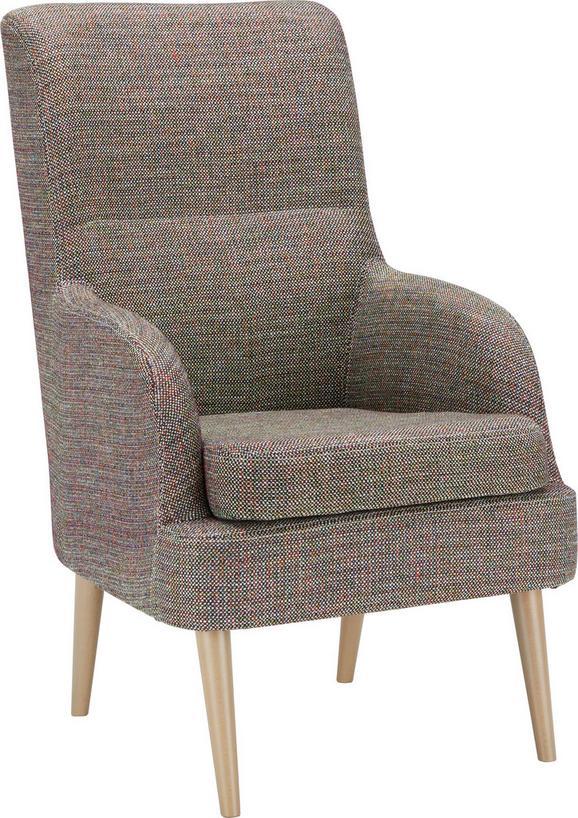 Fotelja Pinto - boje bukve, drvni materijal/tekstil (63/105/83cm) - Modern Living