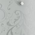 Wandleuchte Iris, max. 60 Watt - Klar/Weiß, KONVENTIONELL, Glas (20/24/8cm) - Mömax modern living