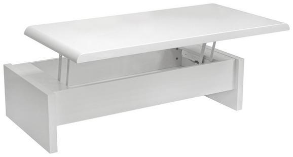 Klubska Miza Daytona - bela, Moderno, leseni material (120/35-60/60cm) - Mömax modern living