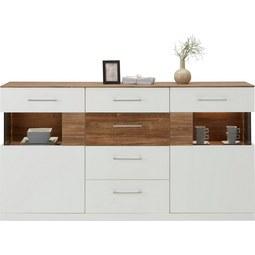 Sideboard in Weiß Hochglanz - Weiß, MODERN, Holz (180/95/44cm) - Premium Living