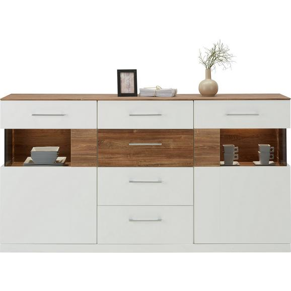 sideboard wei hochglanz akazie online kaufen m max. Black Bedroom Furniture Sets. Home Design Ideas