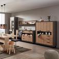 Highboard in Fichtefarben - Fichtefarben/Dunkelgrau, LIFESTYLE, Holzwerkstoff/Kunststoff (124,5/154,5/41,5cm) - Modern Living