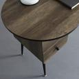 Schreibtisch in Grau 130/60/72 cm 'Kara' - Schwarz/Grau, MODERN, Holz/Kunststoff (130/60/72cm) - Bessagi Home