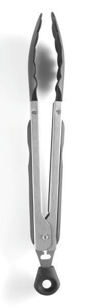 Küchenzange Luca in Schwarz - Edelstahlfarben/Schwarz, Kunststoff/Metall (27cm) - MÖMAX modern living