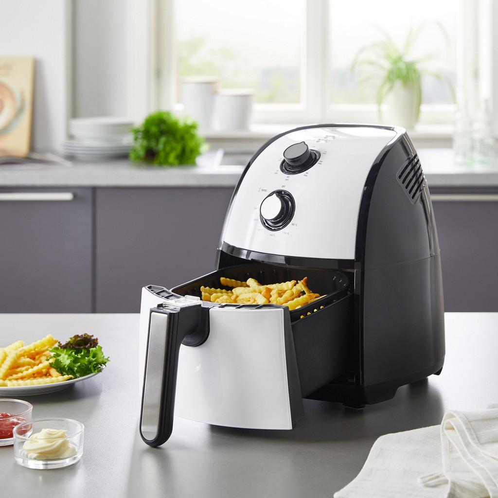 Heißluftfritteuse Bomann | Küche und Esszimmer > Küchengeräte > Fritteusen | Schwarz -  weiß | Kunststoff | Bomann