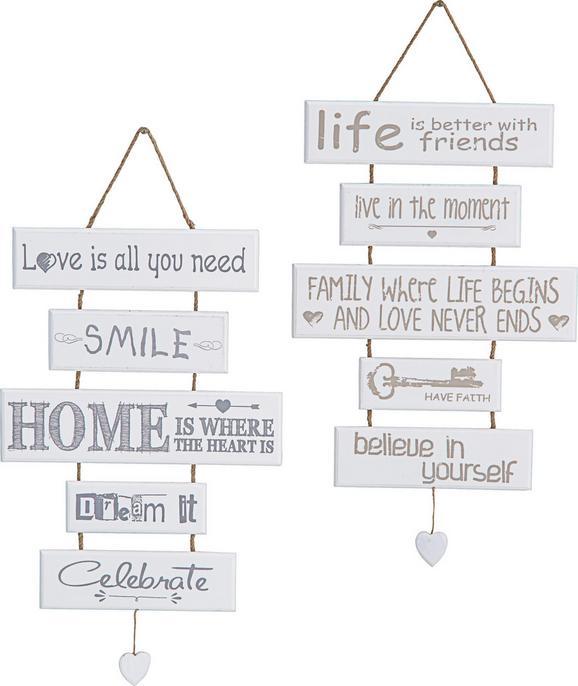 Fali Dekoráció Home - fehér, Lifestyle, fa (30/48cm) - MÖMAX modern living