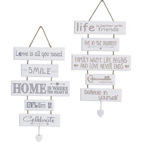 Wanddeko Home Verschiedene Motive - Weiß, LIFESTYLE, Holz (30/48cm) - Mömax modern living