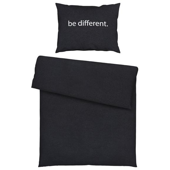Bettwäsche Be Different in Dunkelgrau - Dunkelgrau, Textil (140/200cm) - Mömax modern living