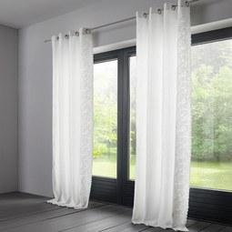 Elegant Vorhang Nele Aus Leinen Ca. 140x245cm   Weiß, KONVENTIONELL, Textil (140/