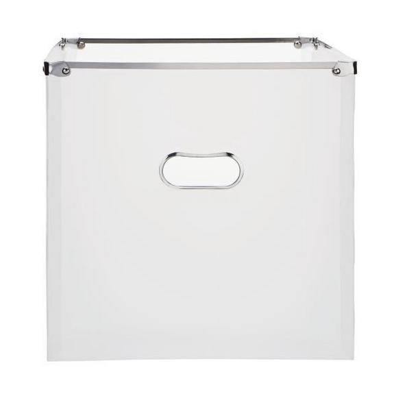 Škatla Za Shranjevanje Poppi - bela, Moderno, kovina/umetna masa (34,5/33/34cm) - Mömax modern living