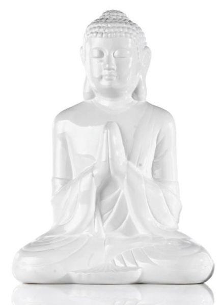 Dekoráció Buddha - fehér/zöld, Lifestyle, kerámia (20cm) - MÖMAX modern living