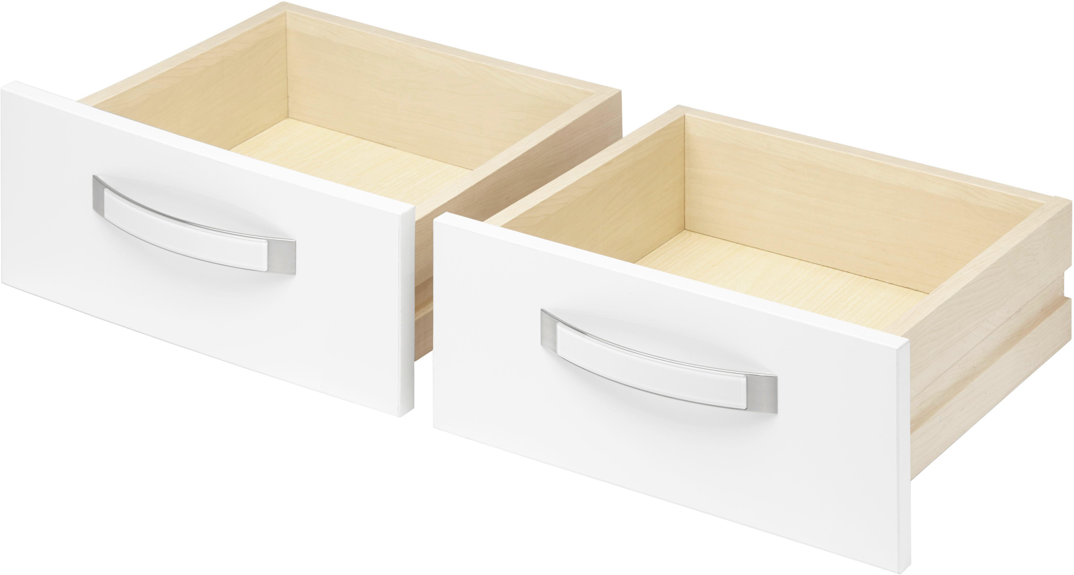 Schubkasteneinsatz in Weiß, 2 Schubkästen - Weiß, MODERN, Holz/Kunststoff (39.4/34.9/36.5cm) - PREMIUM LIVING