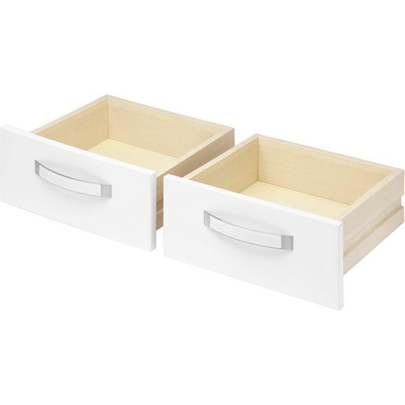 Schubkasteneinsatz in Weiß Hochglanz 2er Set - Weiß, MODERN, Holzwerkstoff/Kunststoff (39.4/34.9/36.5cm) - Premium Living