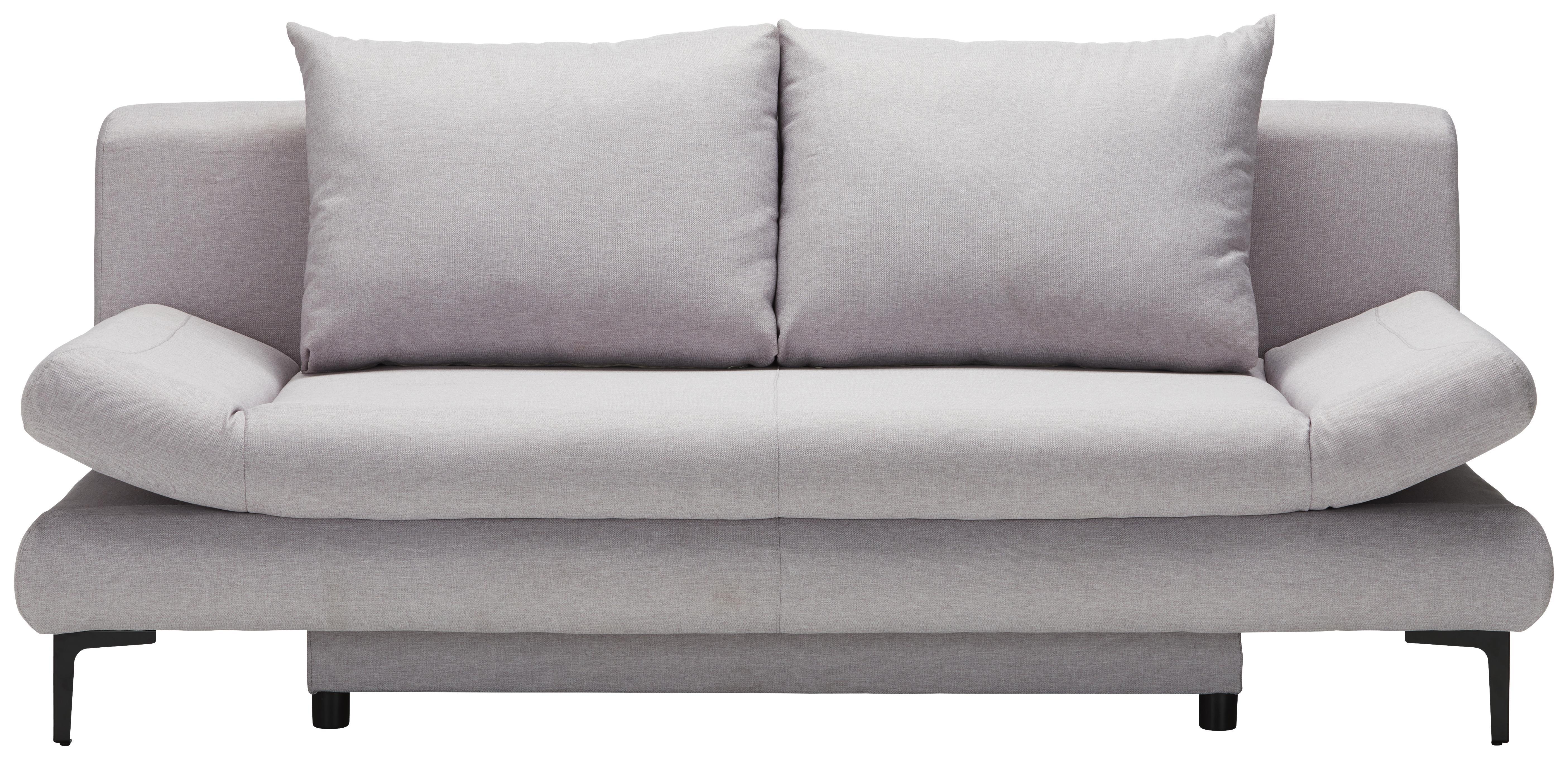 schlafsofa in hellgrau mit bettfunktion online kaufen m max. Black Bedroom Furniture Sets. Home Design Ideas