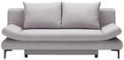 Schlafsofa in Hellgrau mit Bettfunktion - Hellgrau/Schwarz, MODERN, Textil (191/76/42/86cm) - Modern Living