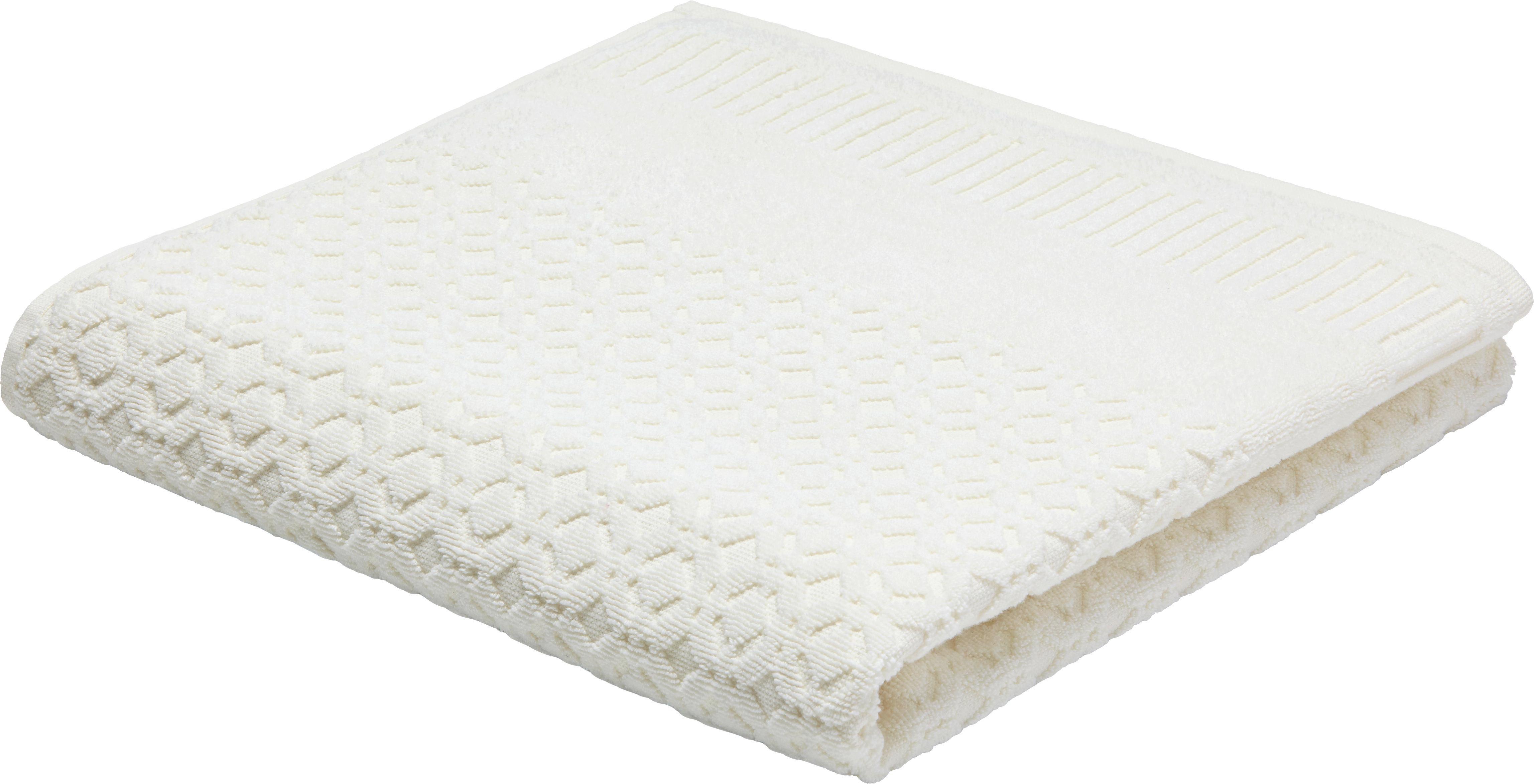 Gästetuch Carina in Weiß - Weiß, ROMANTIK / LANDHAUS, Textil (30/50cm) - MÖMAX modern living