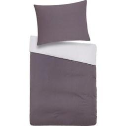 Bettwäsche Belinda in Grau ca. 140x200cm - Hellgrau/Grau, Textil (140/200cm) - Premium Living