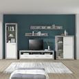 Element Tv Malta - alb/gri, Modern, compozit lemnos (185/50/42cm)