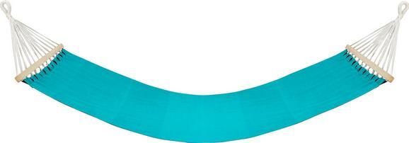 Hängematte Relax Blau - Blau/Braun, Holz/Textil (100/200cm) - Mömax modern living