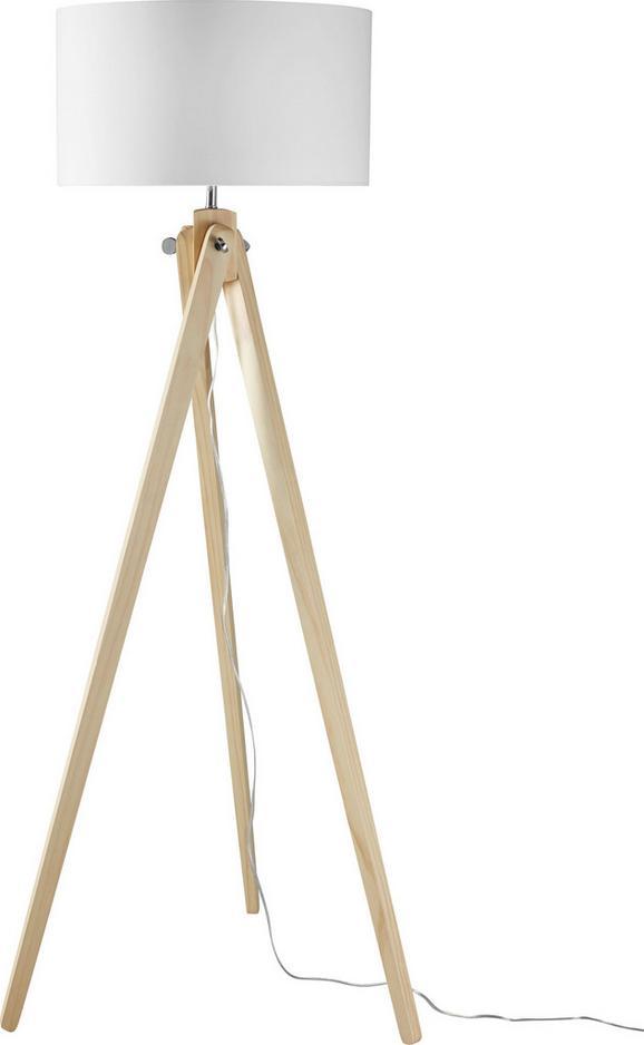 Stehleuchte Finlay - Weiß/Kieferfarben, MODERN, Holz/Textil (46/46/149cm) - MÖMAX modern living