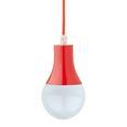 Hängeleuchte max. 60 Watt 'Padina' - Rot, Kunststoff/Metall (9/92cm) - Bessagi Home