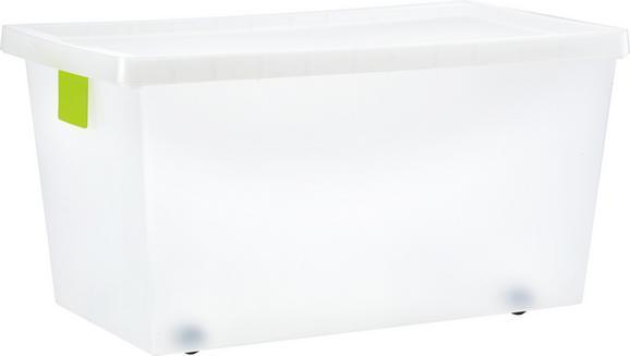 Doboz Tetővel Írható Kártyával - áttetsző, konvencionális, műanyag (69/38/35cm) - MÖMAX modern living
