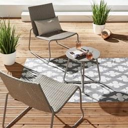 Balkonset Celeste - Grau, MODERN, Kunststoff/Metall - MODERN LIVING