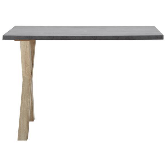 Dodatna Pisalna Miza Mister Office - hrast/grafit, Moderno, leseni material (120/75/70cm) - Mömax modern living