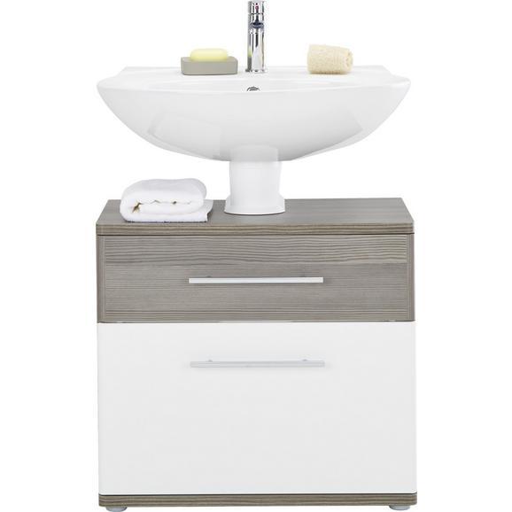 Waschbeckenunterschrank Weiss Hochglanz Braun Online Kaufen Momax