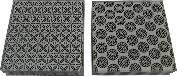 Untersetzerset Shiva - Schwarz/Weiß, LIFESTYLE, Keramik (10/10cm) - MÖMAX modern living