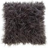 Kissen in Dunkelgrau 'Svea' ca. 45x45cm - Dunkelgrau, Textil (45/45cm) - Bessagi Home