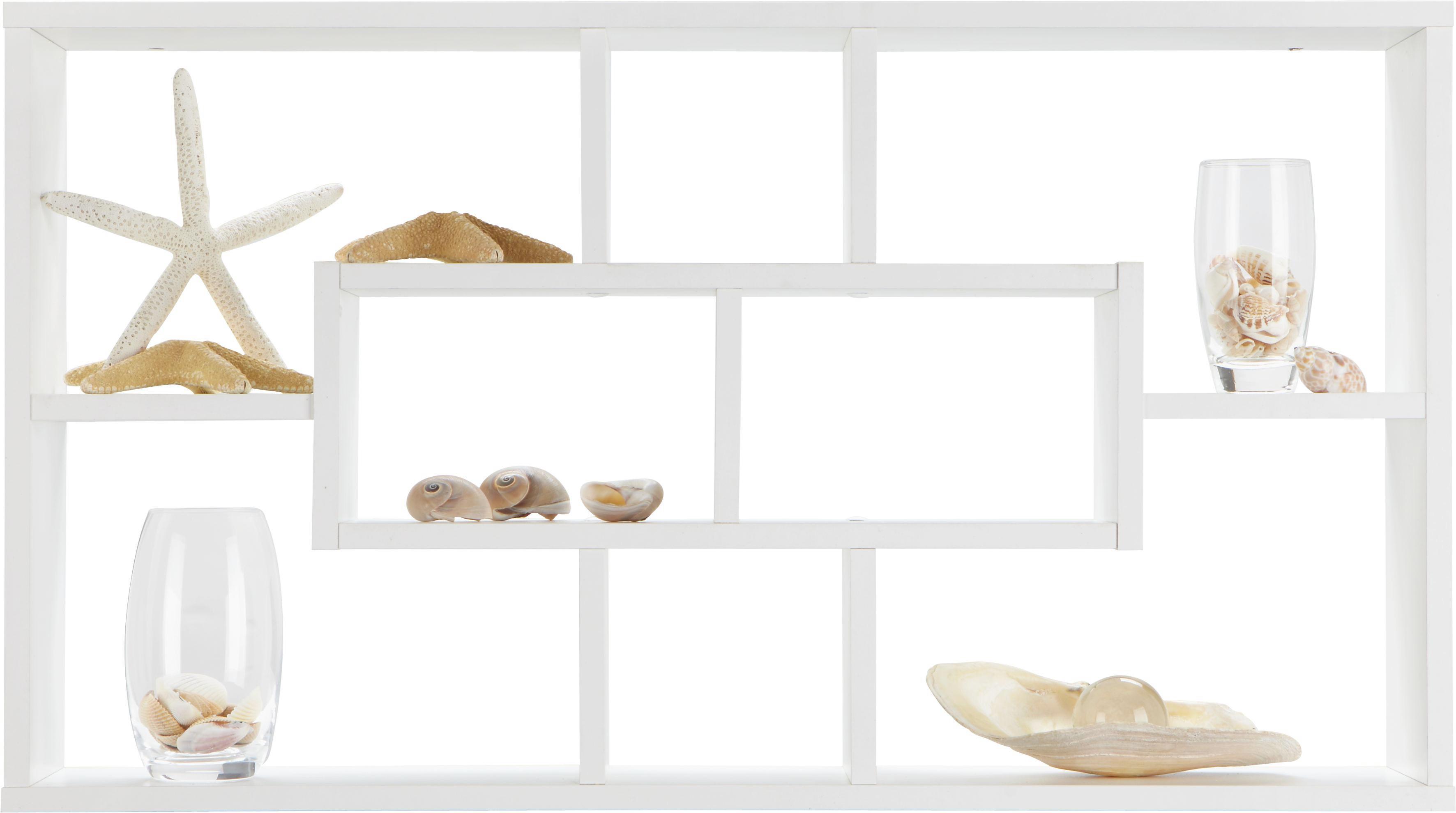 Wandregal in Weiß - Weiß, MODERN, Holz (85/47,5/16cm) - MÖMAX modern living