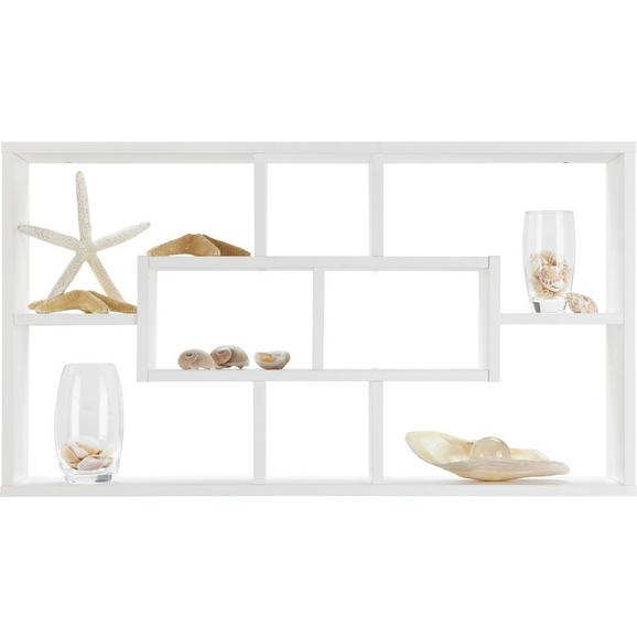 Wandregal Weiß - Weiß, MODERN, Holz (85/47,5/16cm) - Mömax modern living