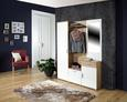 Predsoba Mia - bela/hrast, Moderno, steklo/leseni material (150/190/30cm) - Mömax modern living