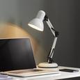 Schreibtischleuchte max. 25 Watt 'Harper' - Schwarz/Weiß, MODERN, Metall (15/45cm) - Bessagi Home